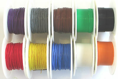 1 metre DCC Decoder Wire 7/0.1 (30AWG) Assorted Colours Multi Pack available
