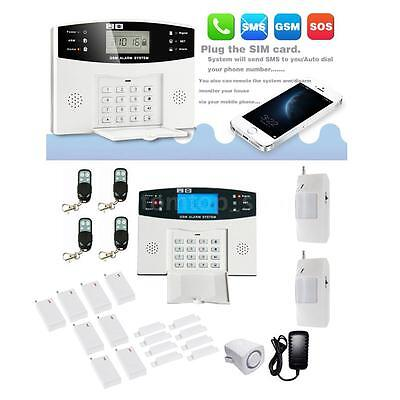 GSM Autodial Wireless LCD Security Home House Office Burglar Intruder Alarm SMS
