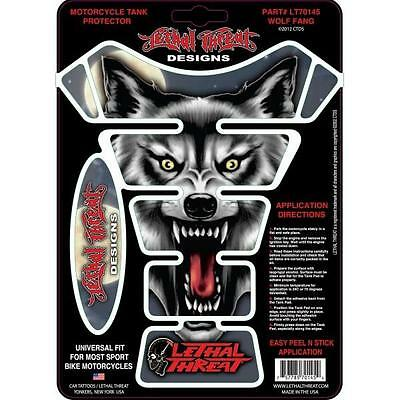 LETHAL THREAT Motorcycle Bike Tank Pad Protector Sticker - WOLF LT70145