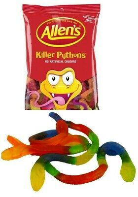 Allens Killer Pythons 1kg Bag Candy Buffet Lollies Jelly Snakes Party Favors