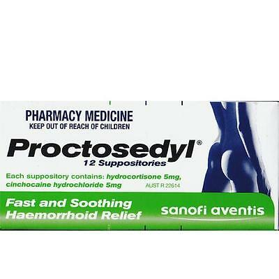 Proctosedyl Suppositories x 12