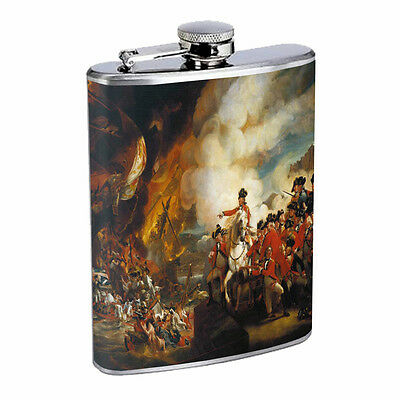 American Revolutionary War Hip Flask D9 8oz Stainless Steel Independance USA