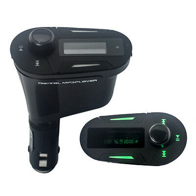 Remote Car Kit MP3 Player Wireless FM Transmitter Modulator USB SD MMC LCD OZ