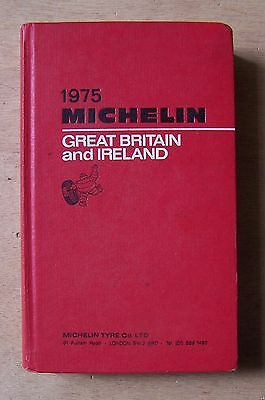 guide MICHELIN rouge GREAT BRITAIN AND IRELAND 1975