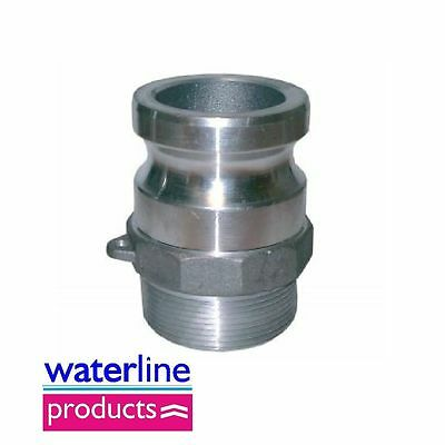 Male x Male Thread Type F Aluminium Camlock Coupler/Cam&Grove Coupling