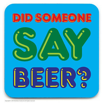 Brainbox Candy novelty beer drinks mat coaster funny cheap dad present gift