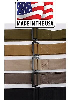"""Military 1 3/4"""" BDU Tactical Web Belt with Metal Buckle 1.75"""" Riggers USA Made"""
