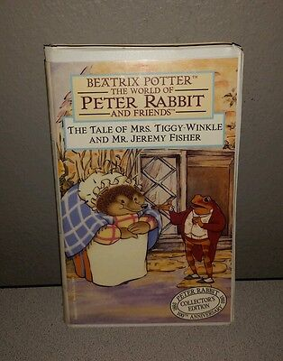 The Tale of Mrs. Tiggy-Winkle and Mr. Jeremy Fisher (VHS, 1993) Clamshell case .
