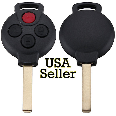 Replacement Remote Car Keyless Entry Key Fob Shell for Smart 2008-2015 ForTwo