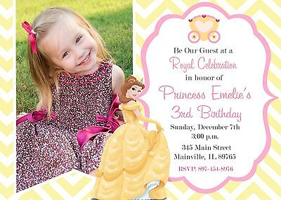 Beauty and the Beast Princess Belle Birthday Party Invitation