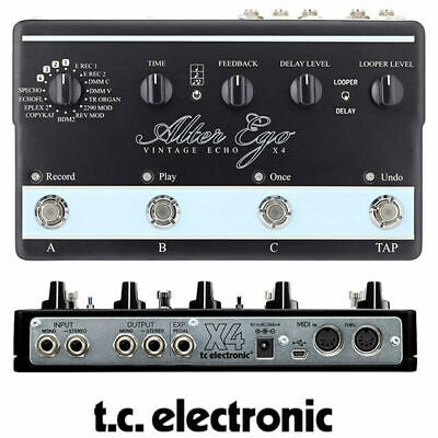 TC Electronic Alter Ego X4 Stereo Vintage Echo Delay Guitar Effect Pedal