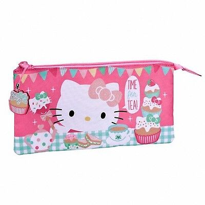 😊  HELLO KITTY TEA PARTY Schlamperetui mit Glitzer