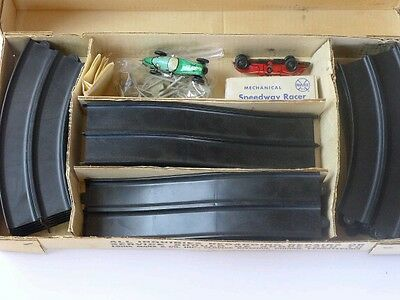Vintage Marx Mechanical Crossover Speedway Race Set with 2 Cars  set 2070MO