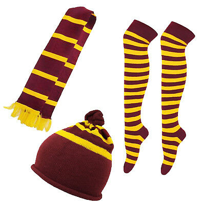 Adult Stripe Hat Or Scarf Or Over Knee Socks Fancy Dress Costume Accessory