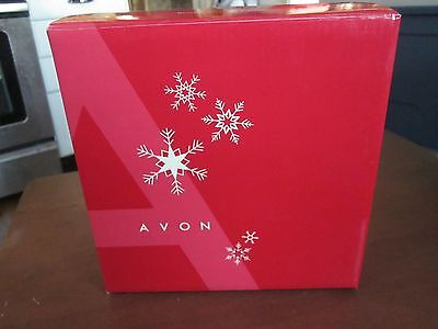 AVON VERY MERRY STACKING POURED CANDLES-CHRISTMAS SNOWMAN  In BOX