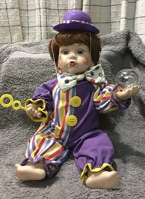 """Bubbles The Clown, 1992, 10"""", by Mary Tretter for the Knowles Co., Doll # KA3779"""