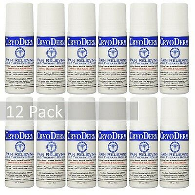CryoDerm Soothing Pain Relief Roll On 3 Oz 12 PACK!!!!!!