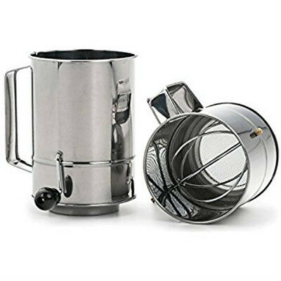 5 Cup Stainless Steel Crank Action Rotary Flour Sifter