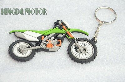 Motorcycle keychain keyring for kawasaki green New rubber Modern (1970-Now)