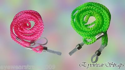 NEW Glasses Sunglasses Retainer Cord Strap Holder Choose from Pink & Green