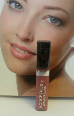 100% Genuine CDior Rouge Creme De Gloss Travel Size #411 in Creamy Rose ~ Rare