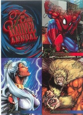 MARVEL COMICS FLAIR ANNUAL 1995 COMPLETE FLEER BASE 1-150 MINT CHASE CARD SET!