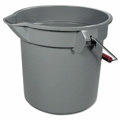 2 New Rubbermaid Brute 14-Quart Plastic Round Bucket, Gray (RCP 2614 GRAY)