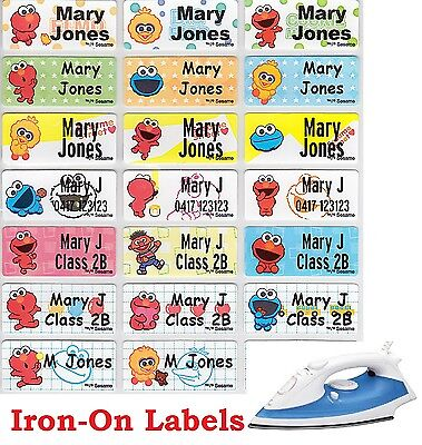 Iron On Personalised Name Clothing Labels - 36 Medium (30*15mm) Sesame St Labels