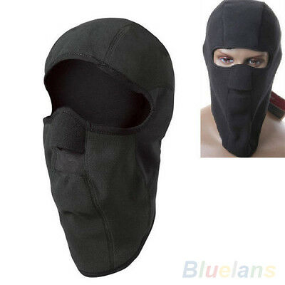 Motorcycle Thermal Fleece Balaclava Neck Winter Ski Full Face Mask Cap Cover New