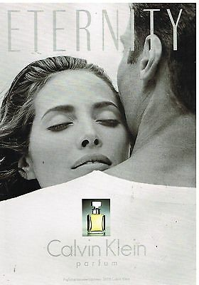 Publicité Advertising 1993 Parfum Eternity par Calvin Klein
