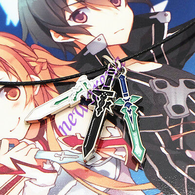 3in1 Cosplay Necklace Pendant Collection Gift For Anime SAO Sword Art Online