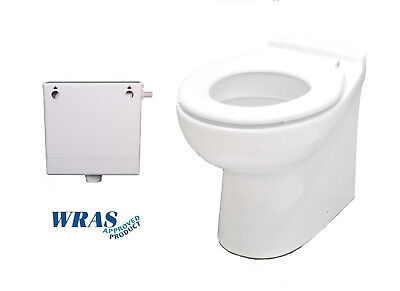 Children's Junior Kids Back To Wall WC Toilet Low Level Pan + Concealed Cistern