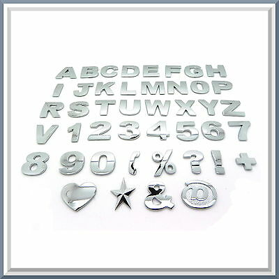 Chrome Letters, Digits and Signs / 3D Self-Adhesive Stickers / Decals