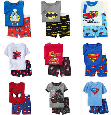 New Kids Boys 100% Cotton short Sleeve Pyjamas Baby sleepwear size 1.2.3.4.5.6
