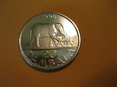 "1996 Malawi coin,   ""ELEPHANT WITH BABY"",   Uncirculated beauty"