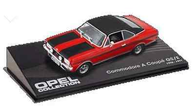 red and black opel commodore A coupe GS/E 1970-1971 1:43 Scale Model Car ref21
