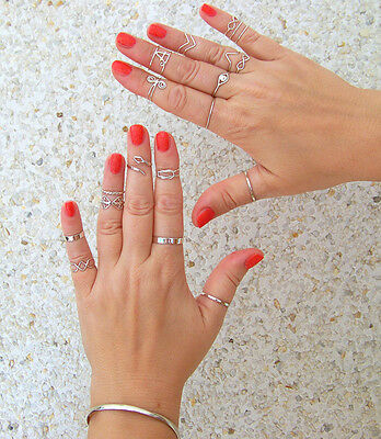 Sterling Silver Band ring  Midi Ring, Stackable  rings, Thumb ring. All sizes