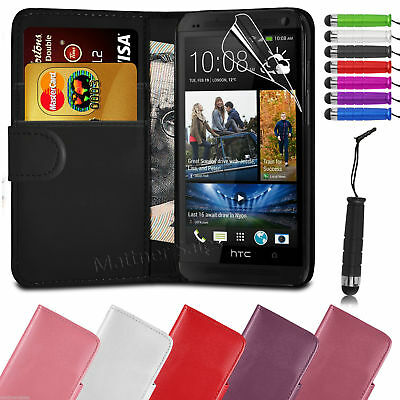 New Cover  Wallet Leather Flip Stand Case for HTC One M7 M8 M9