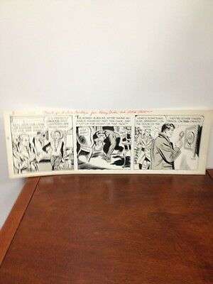 KERRY DRAKE Original Daily Comic Strip Art 3-24-50s ALFRED ANDRIOLA Signed