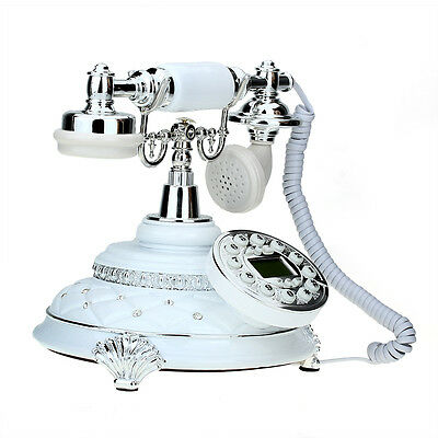 Retro Vintage Metal Resin Desk Telephone Phone Home Living Room Ornament