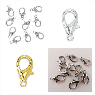 Wholesale 50/100Pcs Jewelry Making Lobster Claw Clasps DIY Bracelet