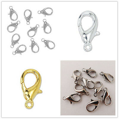 Wholesale 50/100Pcs Jewelry Making Lobster Claw Clasps DIY Bracelet #5