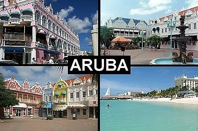 SOUVENIR FRIDGE MAGNET of ARUBA