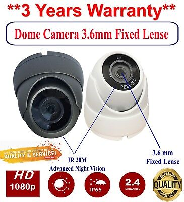 Dome Cctv Camera 2.4Mp 4In1 Tvi Ahd Cvi Cvbs Sony Sensor Outdoor Night Vision