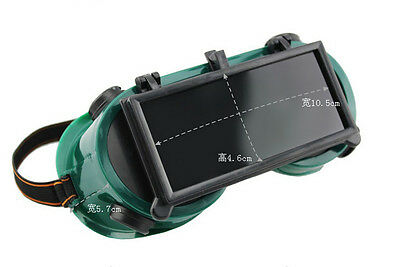 Welding Goggles Lift Front W/ Dark Plastic Cutting Grinding Eye Protection Glass