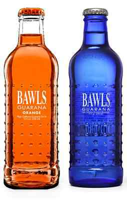 Bawls Guarana - Orange  and Original -  10oz bottle - 8 Pack - Variety Pack -New