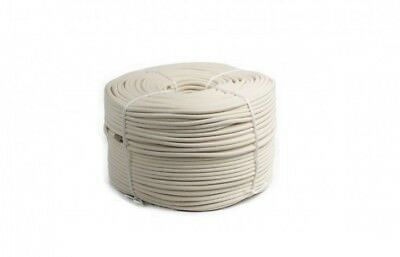 Braided Cotton Rope Cord String 16 Plaits Braids White High Quality Strong