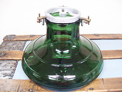 Vintage 1930-40 GLASS Aluminum CHRISTMAS TREE STAND Bulach Switzerland Green