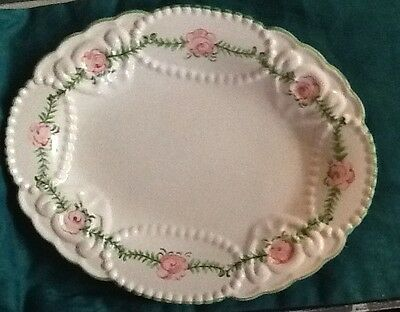 Beautiful Rose Plate Stamped Also Made In Portugal