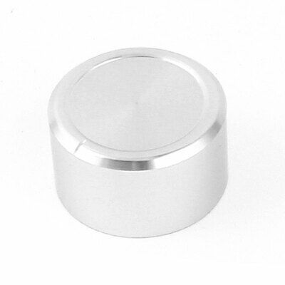 Silver Tone CNC Machined Solid Aluminum Speaker Radio Volume Knobs 38x22mm